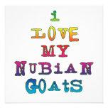 I Love My Nubian Goats Invites
