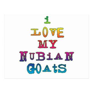 I Love My Nubian Goats Postcard