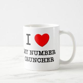 I Love My Number Cruncher Classic White Coffee Mug