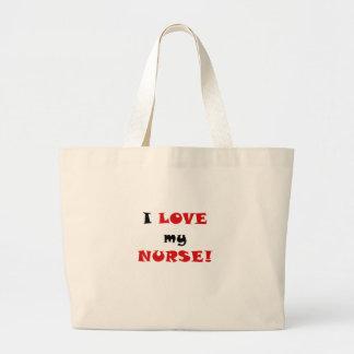 I Love my Nurse Tote Bags