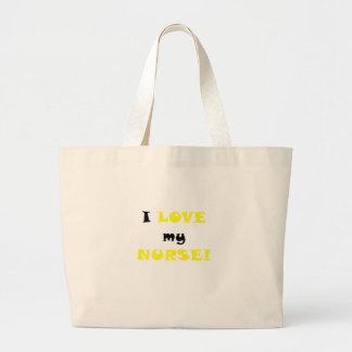 I Love my Nurse Canvas Bags