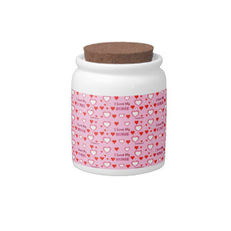 I Love My Nurse Candy Jar