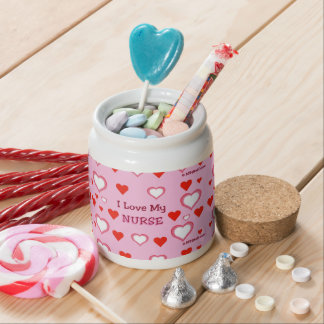 I Love My Nurse - Hearts Candy Jar