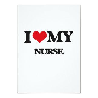 I love my Nurse Custom Invitations