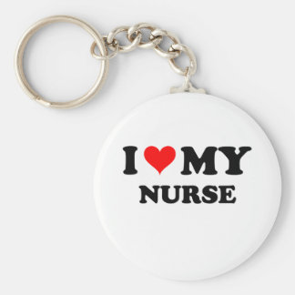 I Love My Nurse Keychains