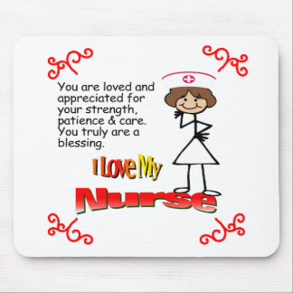 I Love My Nurse Mouse Pad