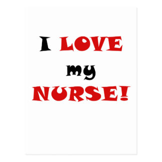 I Love my Nurse Postcard