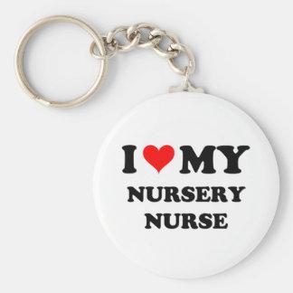I Love My Nursery Nurse Keychains