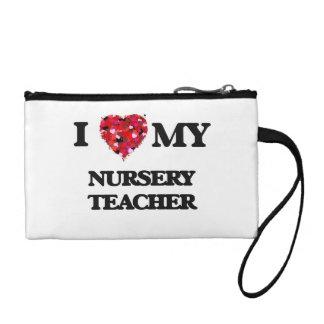 I love my Nursery Teacher Coin Purses