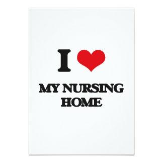 "I Love My Nursing Home 5"" X 7"" Invitation Card"