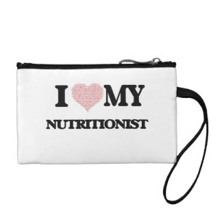 I love my Nutritionist (Heart Made from Words) Coin Purse