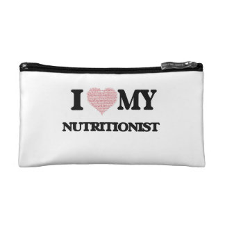 I love my Nutritionist (Heart Made from Words) Makeup Bags