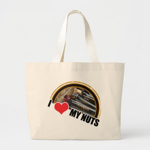 I Love My Nuts Canvas Bags