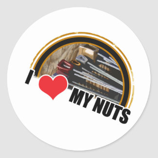 I Love My Nuts Classic Round Sticker