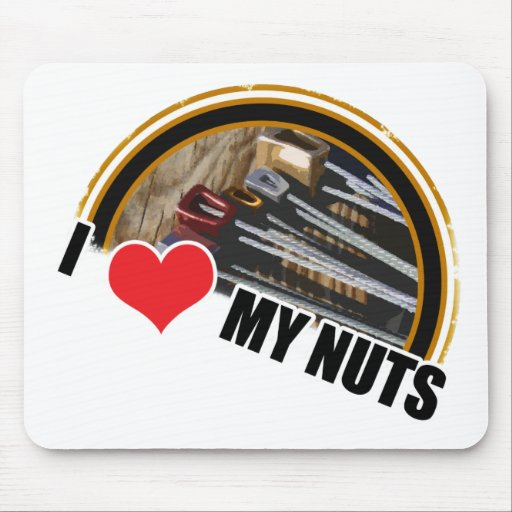 I Love My Nuts Mousepads