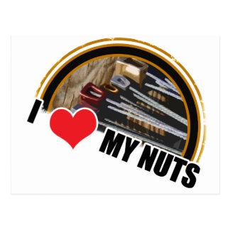 I Love My Nuts Postcard
