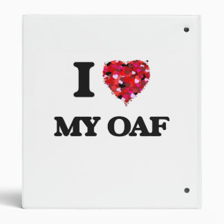 I Love My Oaf 3 Ring Binder