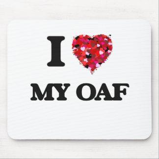 I Love My Oaf Mouse Pad
