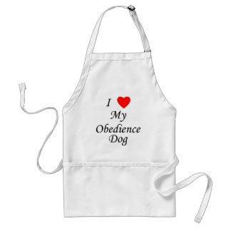 I Love My Obedience Dog Adult Apron
