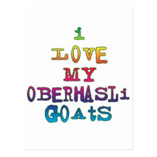 I Love My Oberhasli Goats Postcard