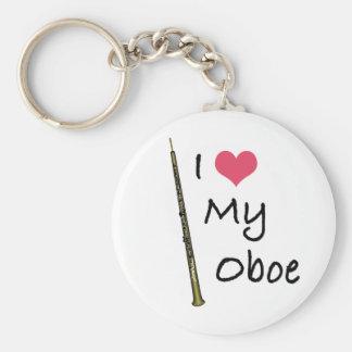 I Love My Oboe Keychain