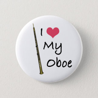 I Love My Oboe Pinback Button