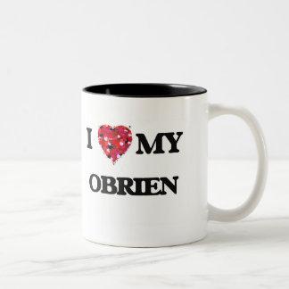 I Love MY Obrien Two-Tone Coffee Mug