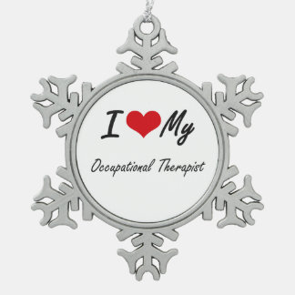 I love my Occupational Therapist Snowflake Pewter Christmas Ornament