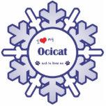 I Love My Ocicat (Male Cat) Photo Cut Out