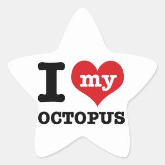 I love my octopus star sticker