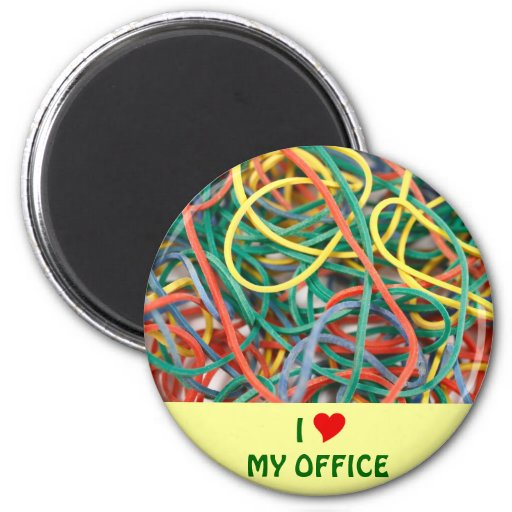 I Love My Office 2 Inch Round Magnet