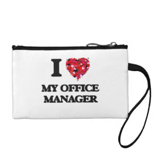 I Love My Office Manager Change Purse