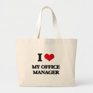 I Love My Office Manager Tote Bags