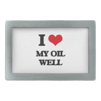 I Love My Oil Well Rectangular Belt Buckles