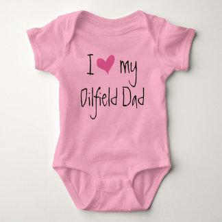 I Love My Oilfield Dad Baby Bodysuit