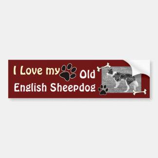 I love my Old English Sheepdog Bumper Sticker