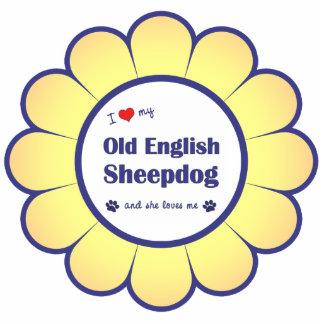 I Love My Old English Sheepdog (Female Dog) Cutout