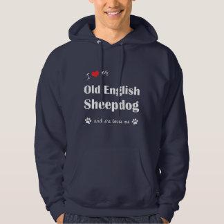 I Love My Old English Sheepdog (Female Dog) Hoodie