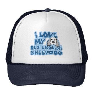 I Love My Old English Sheepdog Hat