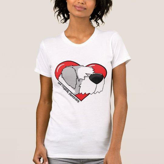 I Love my Old English Sheepdog Ladies T-Shirt