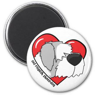 I Love my Old English Sheepdog Magnets