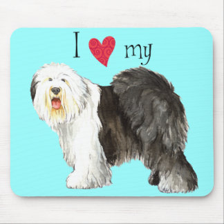 I Love my Old English Sheepdog Mouse Pad