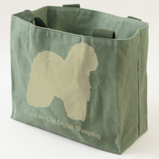 I Love My Old English Sheepdog Tote