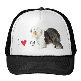 I Love my Old English Sheepdog Trucker Hat