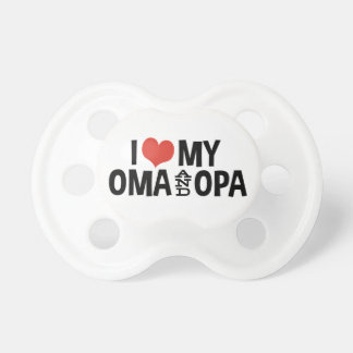I Love My Oma And Opa Pacifier