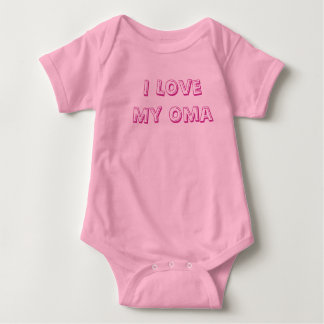 I Love My Oma Baby BodySuit