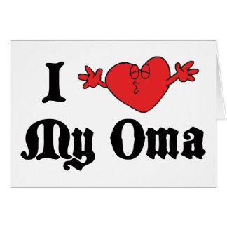 I Love My Oma Gift Card