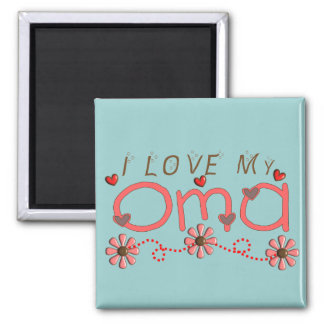 I Love My OMA Gifts 2 Inch Square Magnet