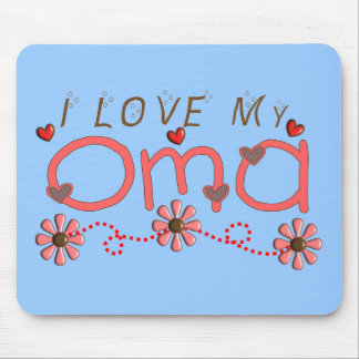 I Love My OMA Gifts Mouse Pad