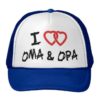 I Love My Oma & Opa T-Shirt Trucker Hat